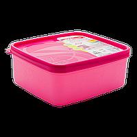 Бокс для морозильной камеры 0,65 л узкий Alaska розовый