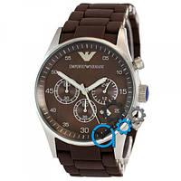 Наручные часы Emporio Armani AAA Brown-Silver Silicone