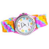 Очень красивые часы Geneva цвет радуга, фото 1