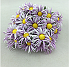 Бумажные ромашки 2,5  см10 шт/уп. фиолетового цвета