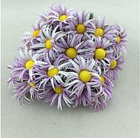 Бумажные ромашки 2,5  см10 шт/уп. фиолетового цвета, фото 1