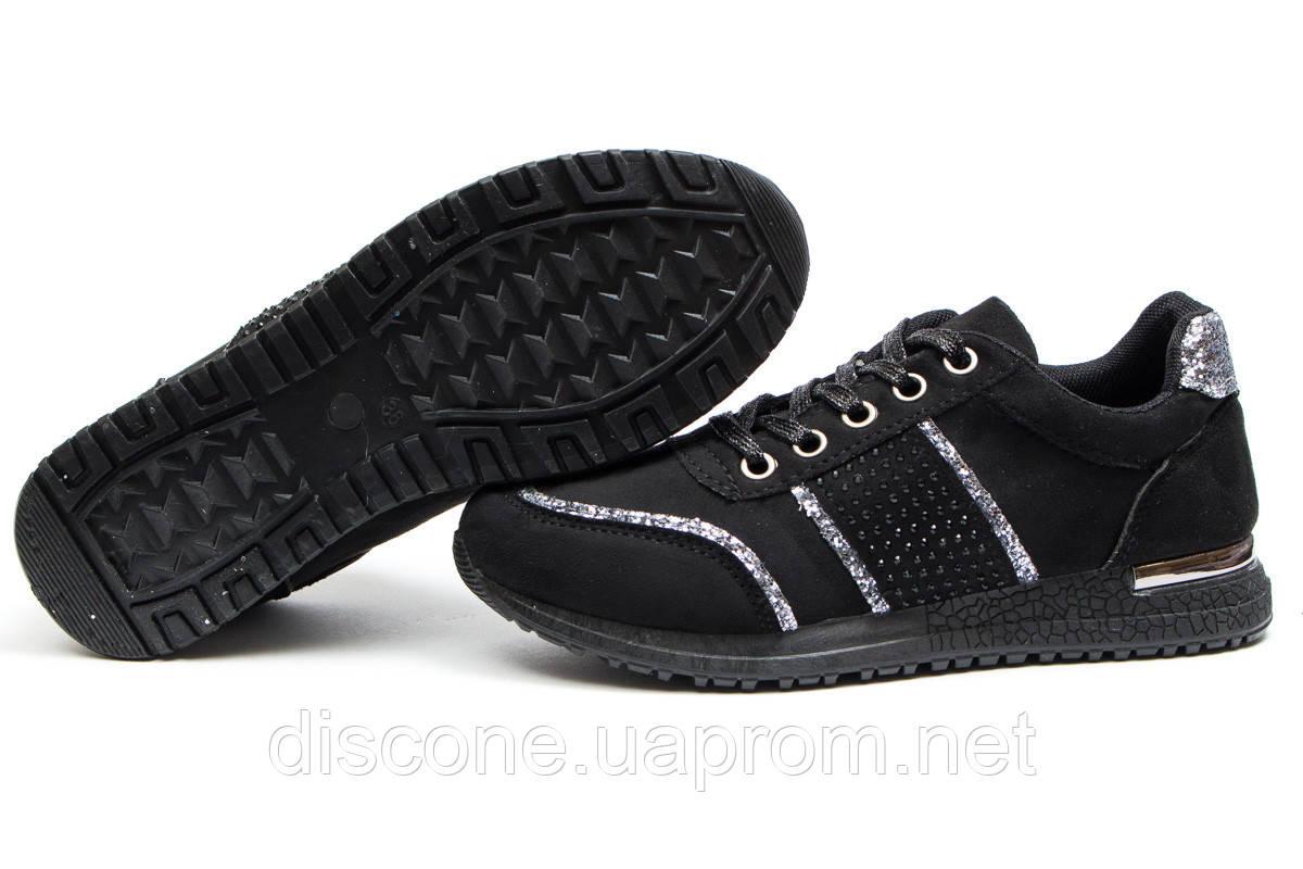 Кроссовки женские ► Ideal Black,  черные (Код: 14281) ► [  36 37 38  ] ✅Скидка 58%