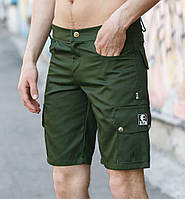 Шорты мужские с карманами Classic олива Ястребь