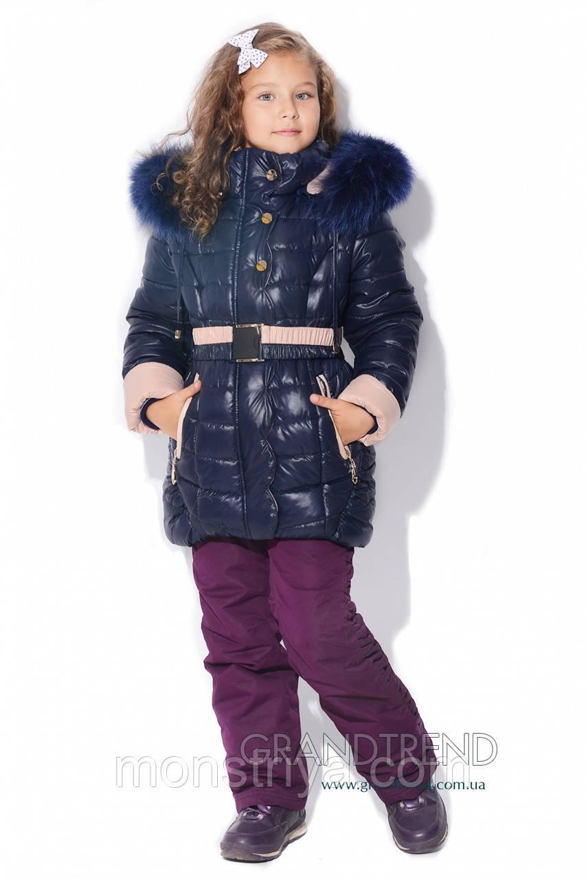 Зимове Пальто дитяче утеплювач тінсулейт X-Woyz! DT-8201