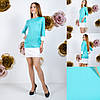 Приталенное платье с карманами, рукав три четверти  / 3 цвета  арт 6662-64, фото 3