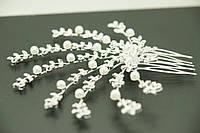 Свадебные гребешки с жемчугом, свадебные украшения для волос оптом .110