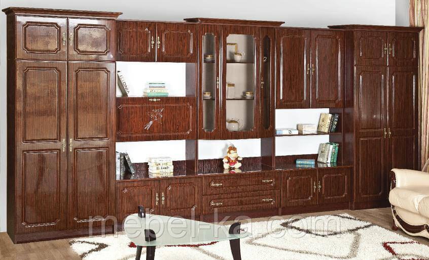 стенка виктория мдф лак с 2 мя шкафами продажа цена в киеве