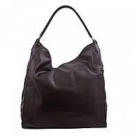 6e1a82974691 Большая женская сумка-мешок на одной ручке из кожзаменителя Batty B-BY13571  черного цвета