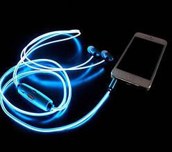 Cветящиеся, LED наушники о Синий