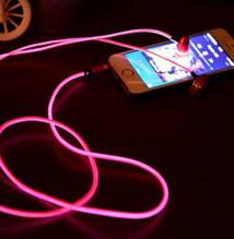 Cветящиеся, LED наушники о Розовый