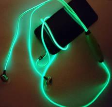 Cветящиеся, LED наушники о Зеленый