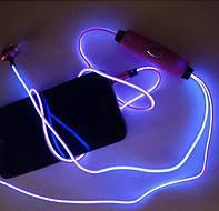 Cветящиеся, LED наушники о Фиолетовый