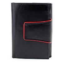 Женский кожаный кошелек 4U Cavaldi RD-03-CMN Black, фото 1