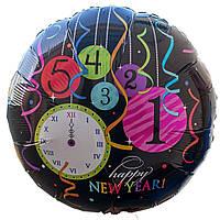 """Фольгированные шары с рисунком """"5 минут до Нового года"""""""