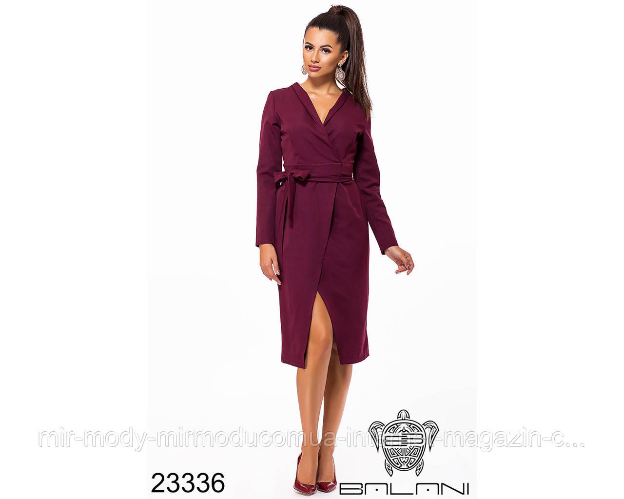 Платье на запах- 23336 с 42 по 46 размер (бн)