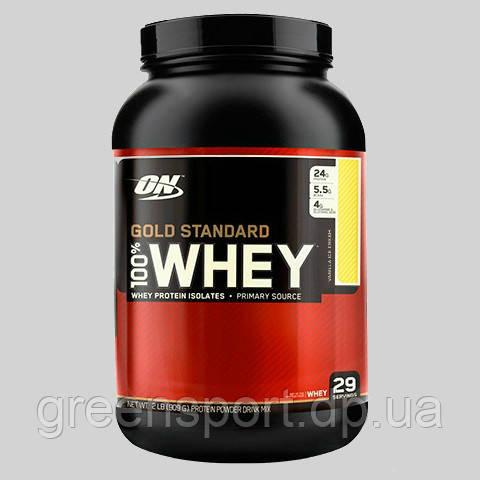 Протеин Optimum Gold Standard 100% Whey (907 г) Ванильное мороженое