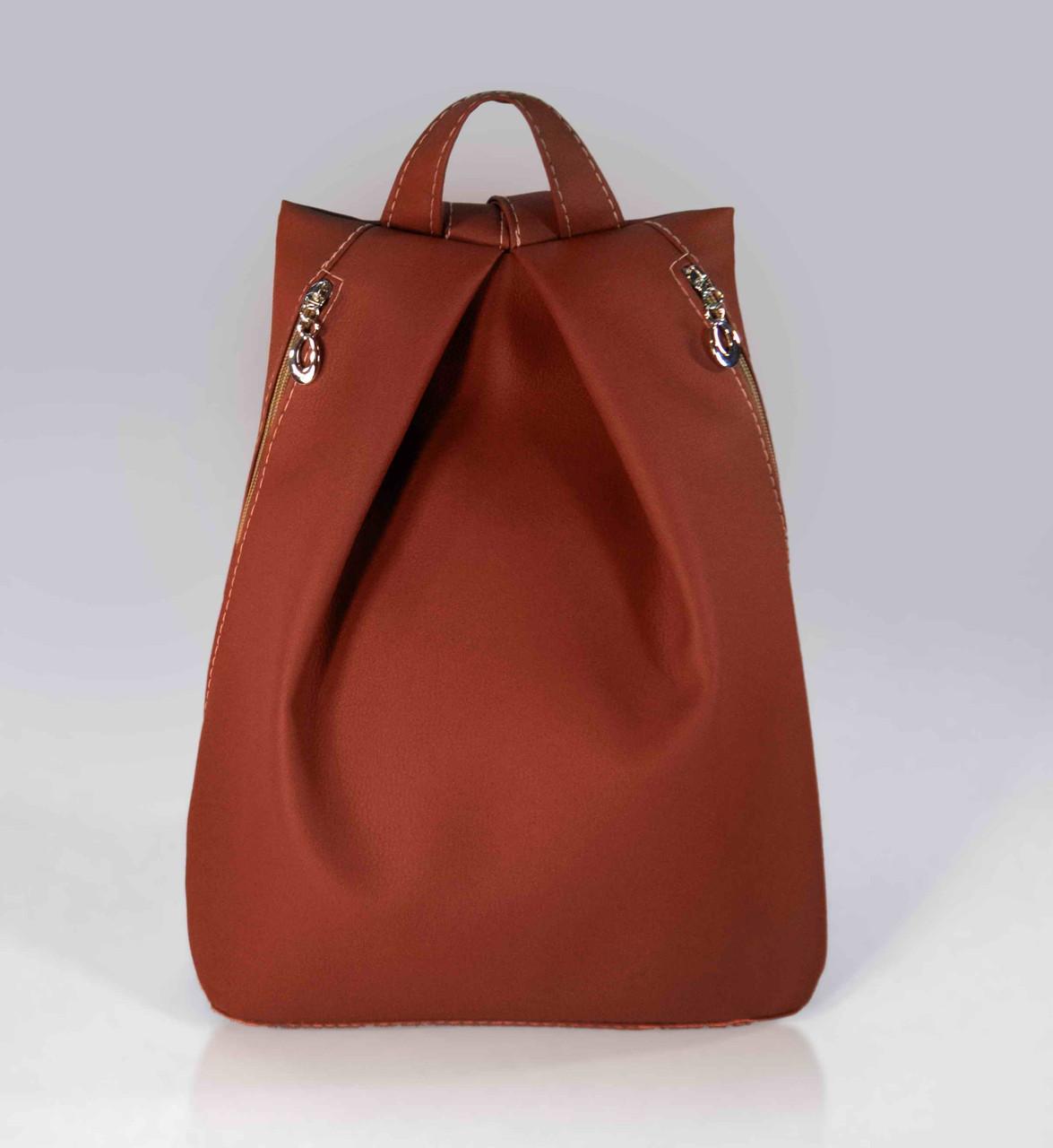 """Городской рюкзак """"Rebecca""""  - коричневый 09"""