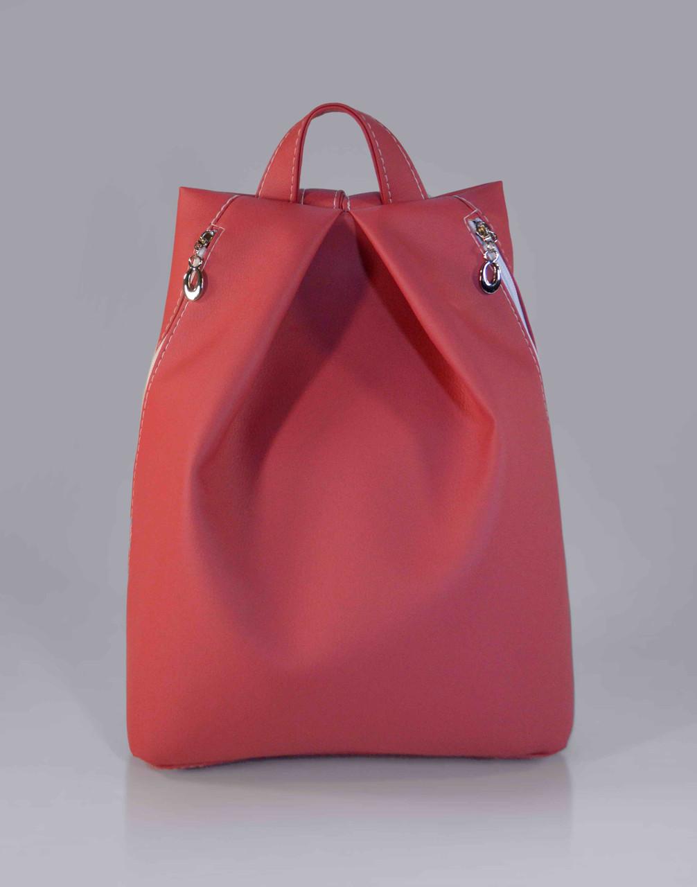 """Городской рюкзак """"Rebecca"""" - коралловый 12"""
