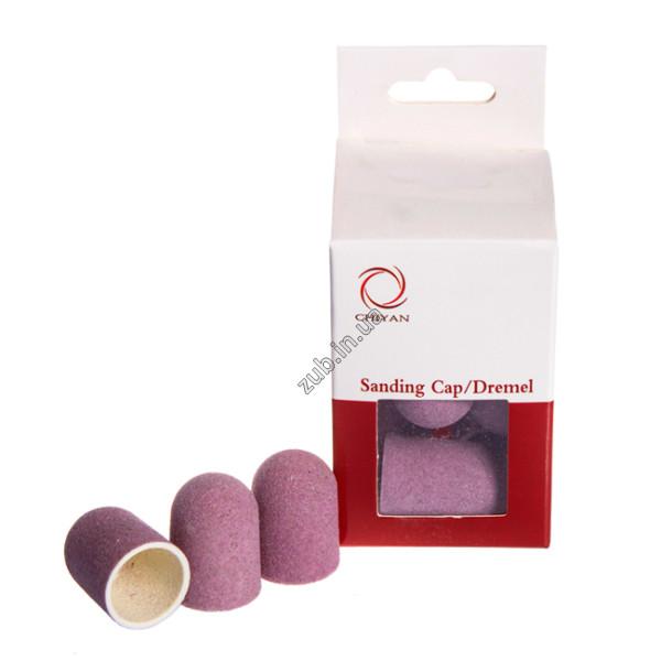Шлифовальные колпачки розовые 16 мм Chiyan упаковка 10 шт.