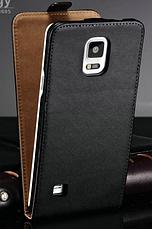 Кожаный чехол флип для Samsung Galaxy Note 4 N910 черный, фото 2