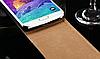 Кожаный чехол флип для Samsung Galaxy Note 4 N910 черный, фото 3