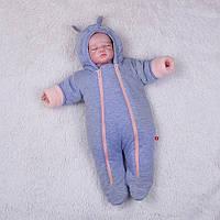 Демисезонный комбинезон для новорожденных Mini (персик), фото 1