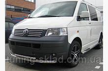 Нижняя двойная губа Volkswagen T5 Transporter 2003-2010 (Фольцваген Транспортер)