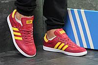 Кроссовки мужские в стиле Adidas Samba код товара SD-6097. Вишневые