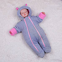 Демисезонный комбинезон для новорожденных Mini (розовый), фото 1