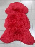 Овечья шкура красного цвета