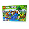 "Конструктор Minecraft, Майнкрафт ""Ферма с водопадом"" My World (аналог Lego Minecraft) Lele 33184"