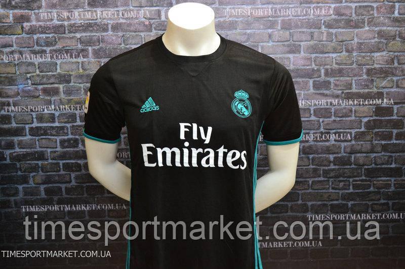 Футболка Реал Мадрид выездная черная (Реплика)