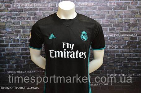 Футболка Реал Мадрид выездная черная (Реплика), фото 2
