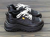 Кроссовки модные черные женские Lonza, фото 1