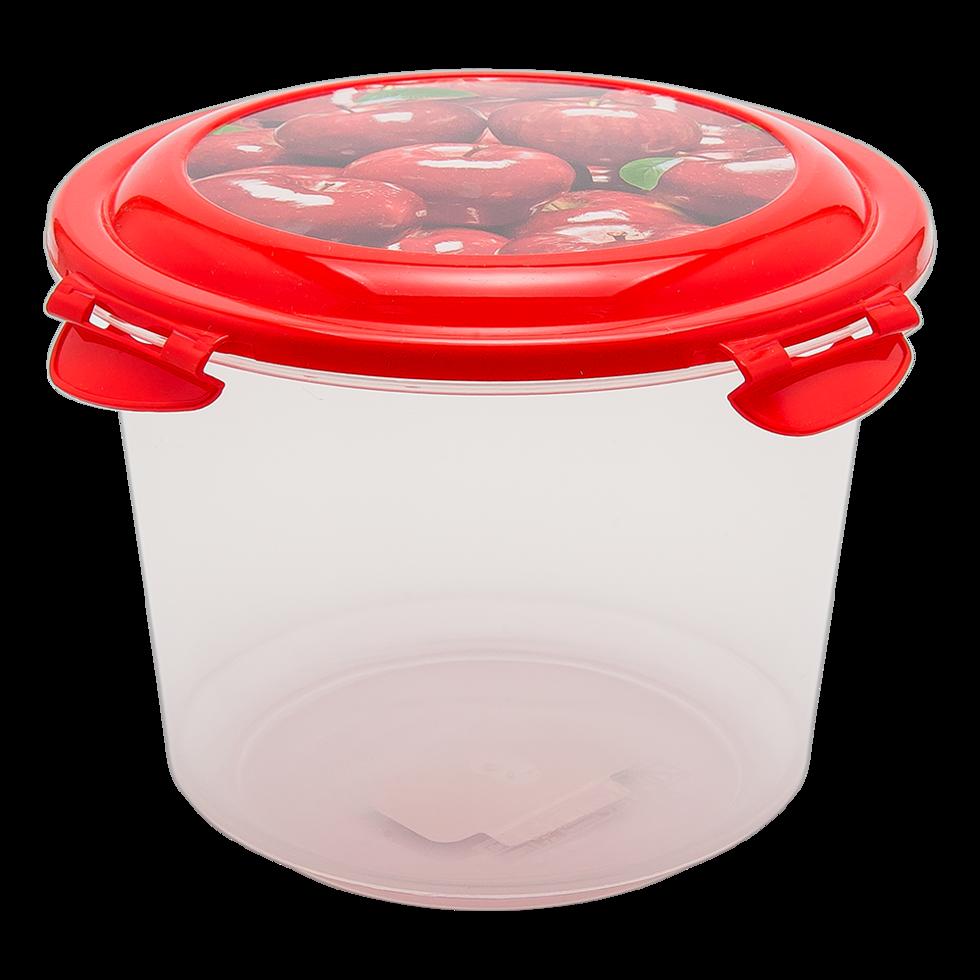 Контейнер глубокий 1,3 л прозрачно-красный