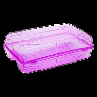 Контейнер для женской обуви фиолетово-прозрачный