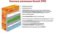 Утепление фасадов пенопластом (система Ceresit-pro ППС)