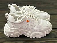 Кроссовки модные белые женские Lonza