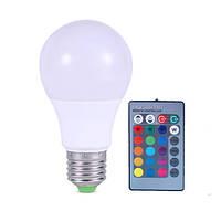 16-ти цветная LED лампа освещения 3W с изменяющимися цветами (модель E-27-1T)