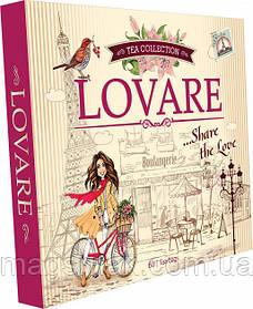 Колекція чаю Lovare Портфельчик асорті 12 видів по 5 шт 120 г