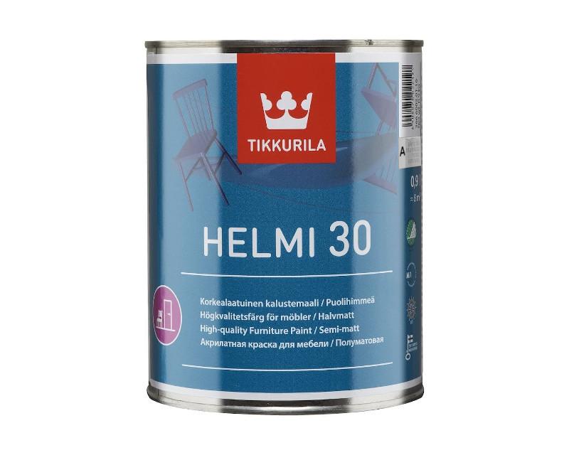 Емаль акрилова ФАРБА HELMI 30 для меблів і радіаторів база A 0,9 л