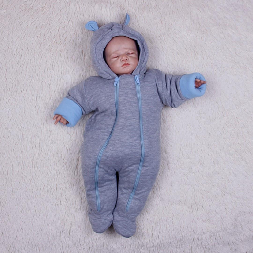 e2dc1754f601 Демисезонный комбинезон для новорожденных Mini (голубой) - Интернет-магазин