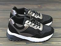 Черные модные женские кроссовки Lonza, фото 1