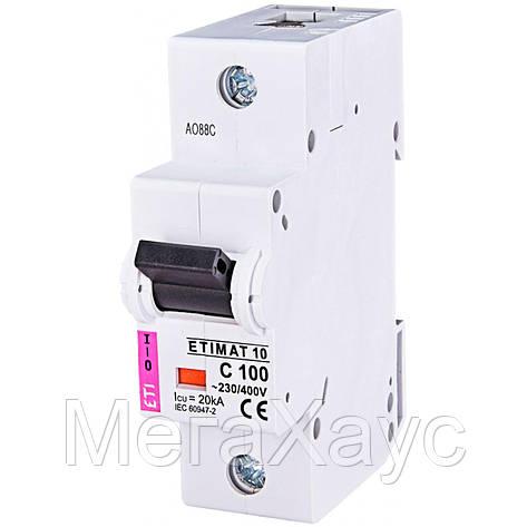 Автоматический выключатель ETIMAT 10  1p C 100А (20 kA), фото 2
