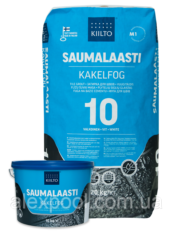 Фуга Kiilto Saumalaasti 1-6mm (43 світло-сіра) 1 кг.