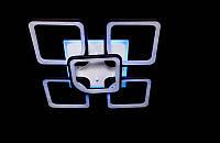 Светодиодная люстра с пультом-диммером и синей подсветкой черная 8060-4+1