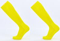 Гетры футбольные юниорские, полиэстер, p-p 32-39, желтый (KS-02M-(yl)), фото 1