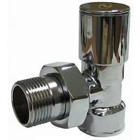 Кран радиаторный Хром 3/4'' угловой верхний Solomon