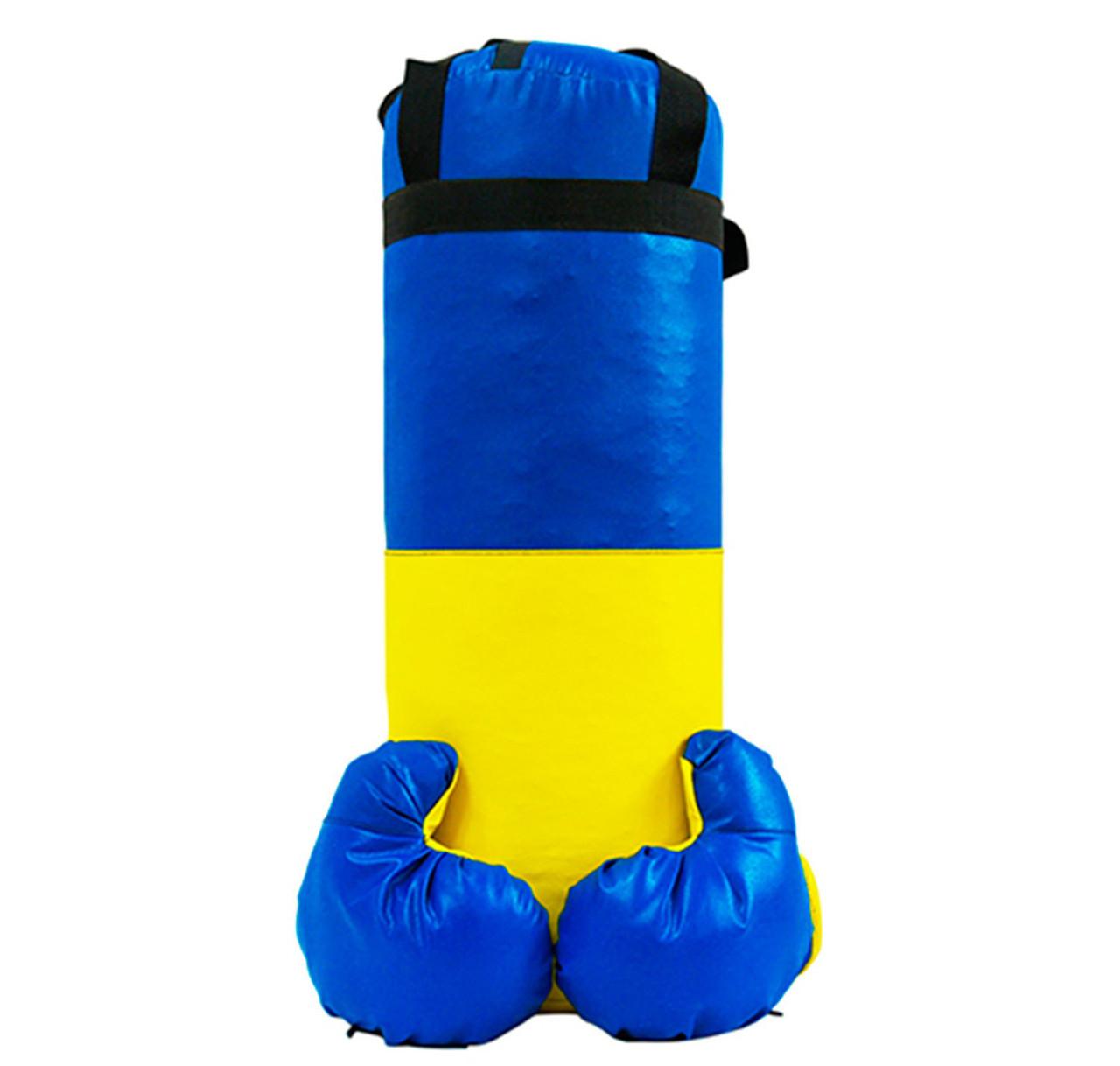 Боксерский набор средний для детей от 5 лет. Детский набор для бокса: боксерская груша (мешок) и перчатки.