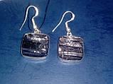 Черный турмалин шерл серьги с натуральным черным турмалином в серебре, фото 5